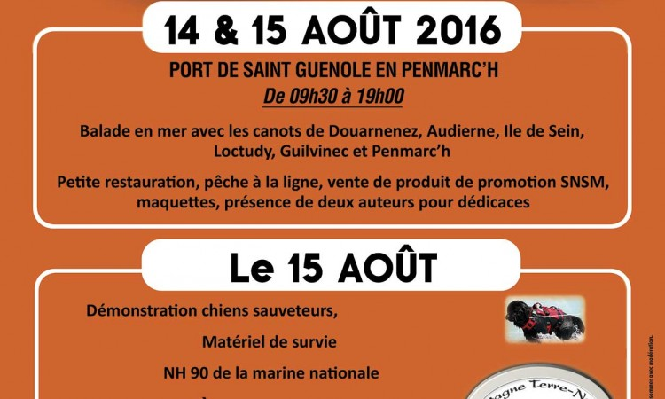Affiche SNSM Penmarc'h - 15 août 2016