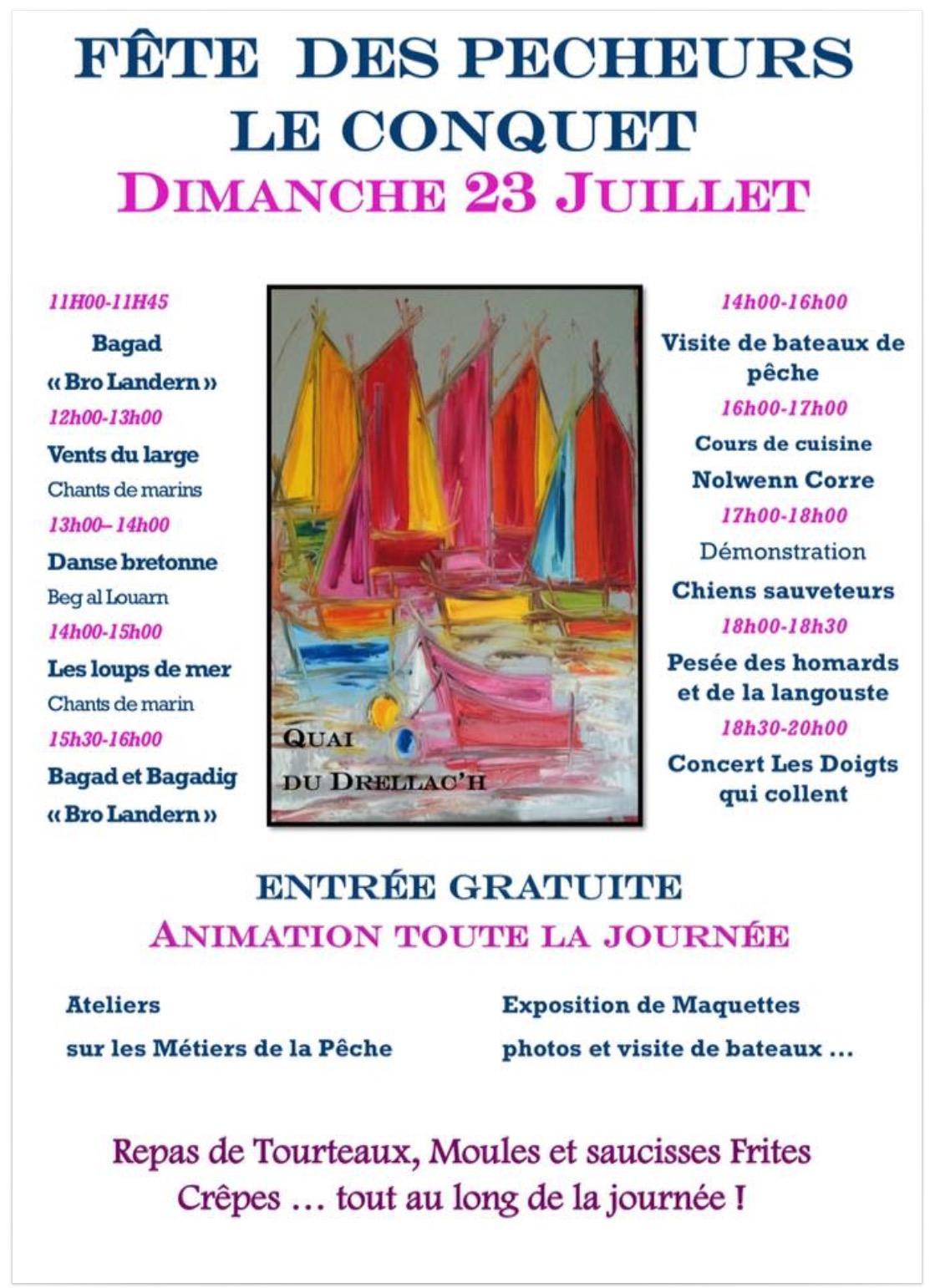 Affiche Le Conquet 23.07.17